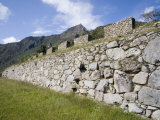 Stonework and Inca Steps, Machu Picchu, Peru Photographic Print by Diane Johnson