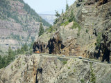 Historic Mining Town, Ouray, San Juan Skyway, US Highway 550, Colorado, USA Photographic Print by Cindy Miller Hopkins