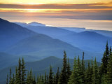 Sunset View from Deer Park, Olympic National Park, Washington, USA Photographic Print by Don Paulson