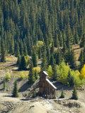Old Mine, Red Mountain Pass, San Juan Skyway, Us Highway 550, Colorado, USA Fotografie-Druck von Cindy Miller Hopkins