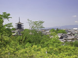 Pagoda in City, Kyoto, Japan Photographic Print by Shin Terada