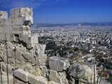 View of Athens From Acropolis, Greece Photographic Print by Rolf Nussbaumer