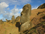 Rano Raraku, Moai quarry, Easter Island, Chile Photographic Print by Douglas Peebles