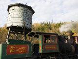 The Cog Railroad on Mt. Washington in Twin Mountain, New Hampshire, USA Fotografie-Druck von Jerry & Marcy Monkman
