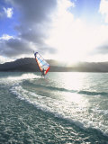 Windsurfing, Kaneohe Bay, Kaneohe, Oahu, Hawaii Photographic Print by Douglas Peebles