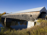The Windsor Cornish Covered Bridge, Connecticut River, New Hampshire, USA Fotografie-Druck von Jerry & Marcy Monkman