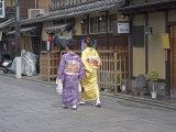 Kimono Beauty, Kyoto, Japan Photographic Print by Shin Terada
