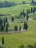 Road From Pienza to Montepulciano, Monticchiello, Val D'Orcia, Tuscany, Italy Photographic Print by Sergio Pitamitz