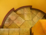 Abstract Pattern on Stairs, San Miguel De Allende, Mexico Fotodruck von Nancy Rotenberg