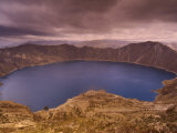 Quilatoa Crater Lake, Andes, Ecuador Photographic Print by Pete Oxford