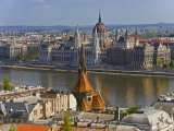 A View of Budapest from Castle Hill, Hungary Photographic Print by Joe Restuccia III