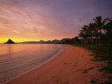 Chinamans Hat Kaneohe Bay, Kaneohe, Oahu, Hawaii, USA Photographic Print by Douglas Peebles