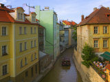 Historical Buildings and Canal, Prague, Czech Republic Photographic Print by Keren Su
