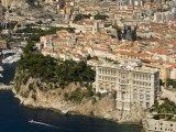 Monaco Oceanography Museum and Monaco, Cote D'Azur, Monaco Photographic Print by Sergio Pitamitz