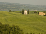 Cappella Di Vitaleta, Val D'Orcia, Siena Province, Tuscany, Italy Photographic Print by Sergio Pitamitz