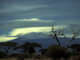 Summit of Mount Kilimanjaro, Amboseli National Park, Kenya Photographic Print by Paul Souders