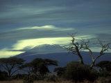 Summit of Mount Kilimanjaro, Amboseli National Park, Kenya Photographic Print by Paul Souders