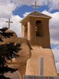 View of San Francisco De Assis Presbyterian Church, Taos, New Mexico, USA Photographic Print by Nancy & Steve Ross