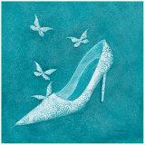 Butterfly Motif Shoe Print by Deb Garlick