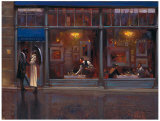 Fifth Avenue Café I Art by Brent Lynch