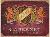 Cabernet Label Prints by Angela Staehling