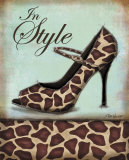 Giraffe Shoe Posters by Todd Williams