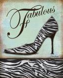 Zebra Shoe Plakater af Todd Williams