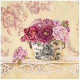 Chintz and Peonies Art by Stefania Ferri