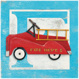 F is for Fire Truck Print by Arnie Fisk