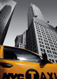 Chrysler Building, New York City Taxi Prints by Michel Setboun