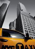 Chrysler Building, New York City Taxi Prints by Michel Setboun
