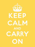 Keep Calm and Carry On Poster by  The Vintage Collection