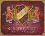 Cabernet Label Print by Angela Staehling