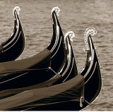 Four Gondolas Print by Bret Staehling