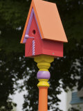 Colorful Birdhouse, Ogunquit, Maine, USA Photographic Print by Lisa S. Engelbrecht