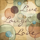 Live Laugh Love Print by N. Harbick