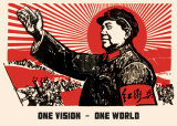 One Vision, One World Poster by  20th Century Chinese School