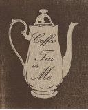 Coffee, Tea, Me Print by  Regina-Andrew Design