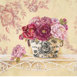Chintz and Peonies Posters by Stefania Ferri