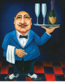 Gus With Champagne Prints by Will Rafuse