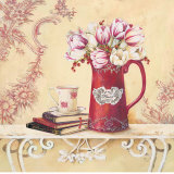 Chintz and Tulips Print by Stefania Ferri