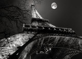Tour Eiffel, Pleine Lune Posters by Antoine Carrara