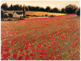 Scarlet Vista Poster by James Wiens