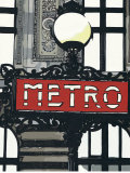 Metro in Paris Prints by Jo Fairbrother