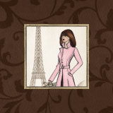 Paris in Pink Poster by Andrea Laliberte