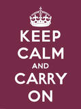 Keep Calm and Carry On Art by  The Vintage Collection