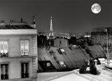 La Tour Eiffel de la rue St Eleuthère Affiches par Antoine Carrara