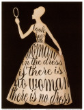 Script Dress - La robe en italique Affiches par Lisa Vincent