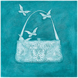 Butterfly Motif Purse Poster by Deb Garlick
