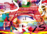 Paris s'eveille Prints by Kaly